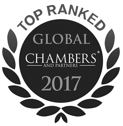 Top ranked Global Chambers And Partners 2017
